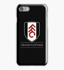 Black & White Football - Fulham FC iPhone Case/Skin