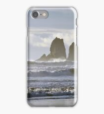 Rockaway Beach Oregon - Twin Rocks iPhone Case/Skin
