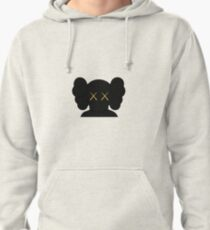 KAWS companion head logo black gold Pullover Hoodie