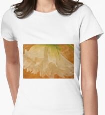White Dahlia Womens Fitted T-Shirt