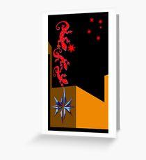 Christmas Geckos Greeting Card