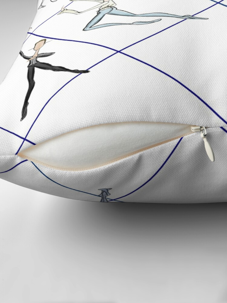 Alternate view of MALE BALLET ROLES Throw Pillow