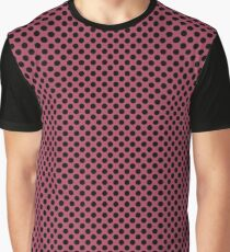 Hippie Pink and Black Polka Dots Graphic T-Shirt
