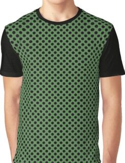 Hippie Green and Black Polka Dots Graphic T-Shirt