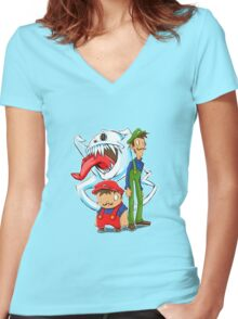 Haunted Kingdom Women's Fitted V-Neck T-Shirt