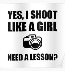 Like A Girl Photography Shoot Poster
