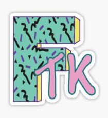 retro FTK Sticker