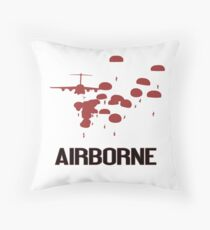 Airborne Jump (Airborne Red) Throw Pillow