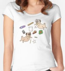STEM Pugs Women's Fitted Scoop T-Shirt