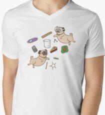 STEM Pugs Men's V-Neck T-Shirt