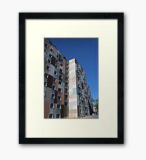Checkered building exterior Framed Print