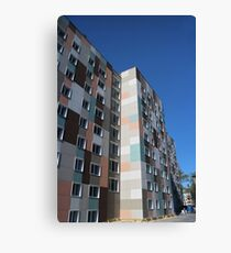 Checkered building exterior Canvas Print