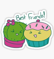 Cactus and Cupcake Best Friends  Sticker