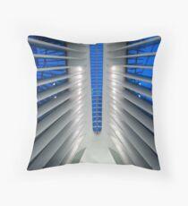 Cojín Detalle del Hub de Transporte del World Trade Center, Oculus, por el arquitecto Santiago Calatrava   Nueva York, NY