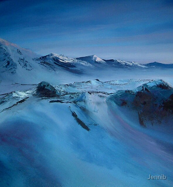 Spitsbergen/ Oil painting by Jennib