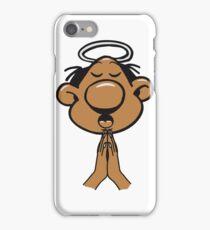 kopf hände beten heilig heiligenschein  iPhone Case/Skin
