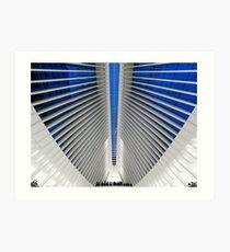 Lámina artística Detalle del Hub de Transporte del World Trade Center, Oculus, por el arquitecto Santiago Calatrava | Nueva York, NY
