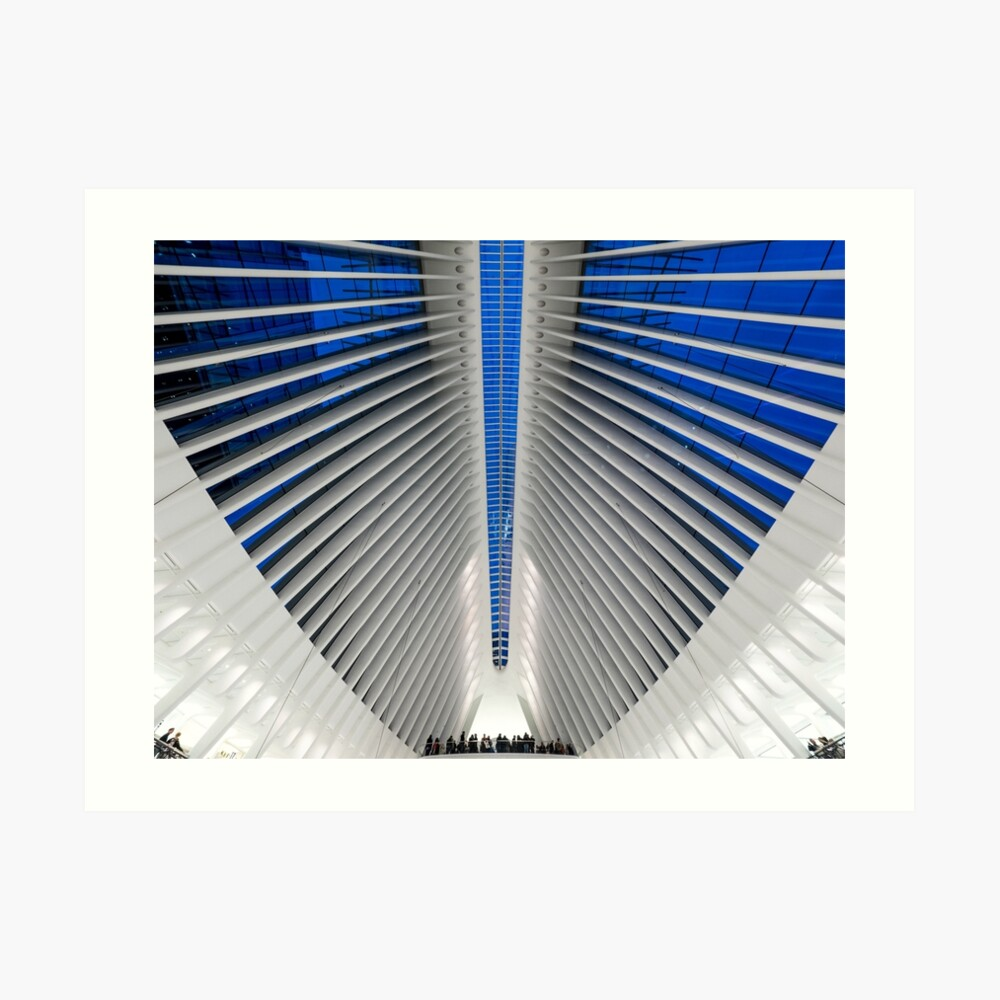 Detalle del Hub de Transporte del World Trade Center, Oculus, por el arquitecto Santiago Calatrava | Nueva York, NY Lámina artística