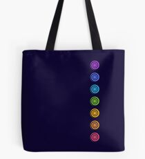Spiral Chakras, Cosmic Energy Centers, Evolution, Meditation, Enlightenment Tote Bag