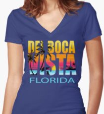 Del Boca Vista - Seinfeld Women's Fitted V-Neck T-Shirt