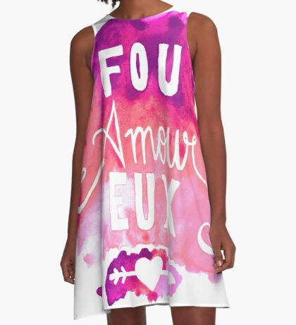 Fou Amour Eux - Crazy in Love A-Line Dress