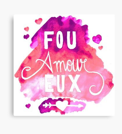 Fou Amour Eux - Crazy in Love Canvas Print