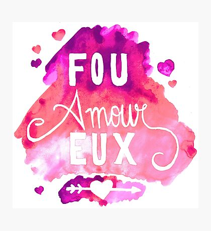 Fou Amour Eux - Crazy in Love Photographic Print