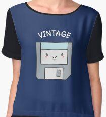 Cute Vintage Floppy Disk  Chiffon Top