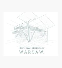 Architecture Warsaw Post-war Modernism - Pawilon Chemia Photographic Print