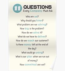 Questions for Successful Companies Poster