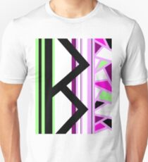 Berkana Blossom Fertility Norse Rune Pink Black Green White T-Shirt