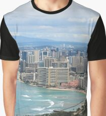 Waikiki Beach Graphic T-Shirt