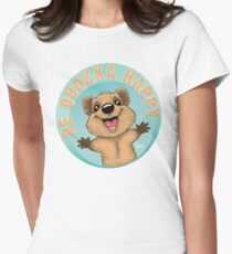 Be Quokka Happy Women's Fitted T-Shirt