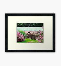 Stone Barn with flowers, Donegal, Ireland Framed Print