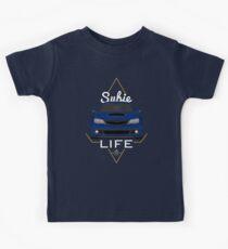 Subie life Blue Kids T-Shirt
