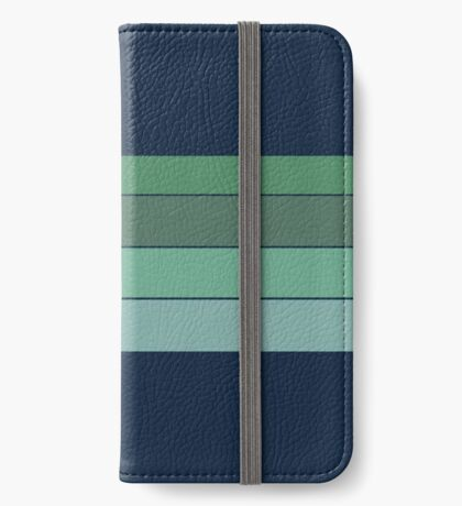 BLUE CORAL Custom Pattern iPhone Wallet