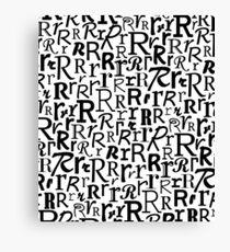 R | Typography (White) Canvas Print