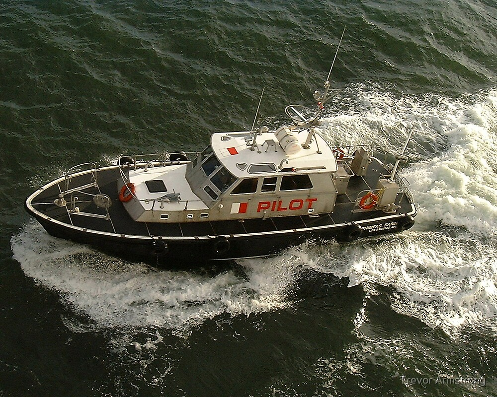 Pilot Boat coming along side. by Trevor Armstrong