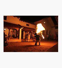 Chennai Fire Photographic Print