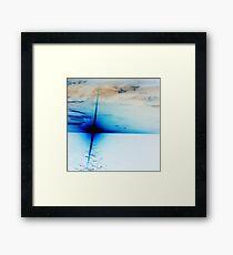 Blue Sun Setting Framed Print