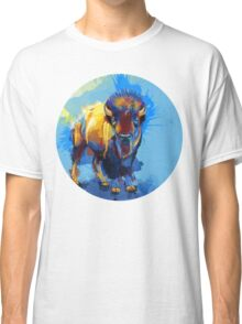 On the Plain - Bison painting Classic T-Shirt