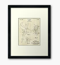 Wand Holster Patent Framed Print