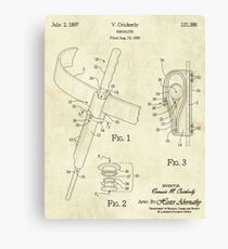 Wand Holster Patent Canvas Print