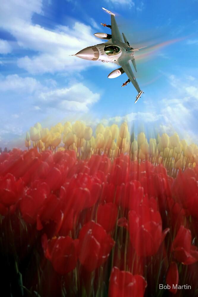 Tulips and Falcon by Bob Martin