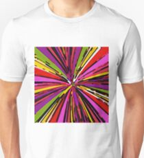 psychedelic geometric graffiti line pattern in pink purple yellow green red T-Shirt