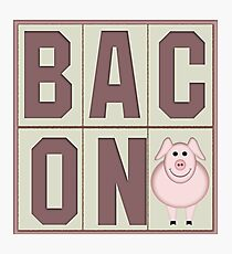 Bacon with Cartoon Piglet Photographic Print