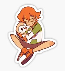 Pidge gunderson voltron hugging Rowlet Pokemon Sticker