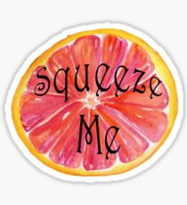 Squeeze Me Grapefruit Sticker