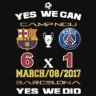 Barcelona 6x1 PSG Amazing Comeback by artenvector