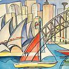 Sydney Harbor Australia by Giselle Luske